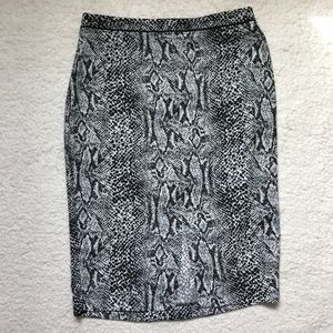 Who What Wear Pencil Skirt Snake Print